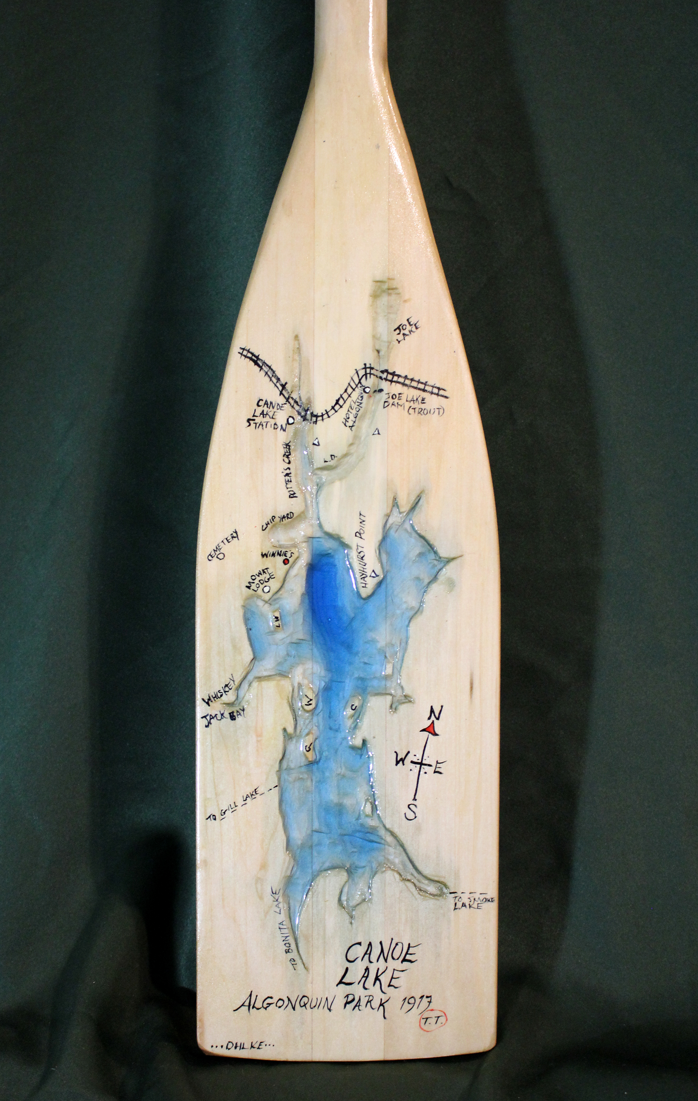 Tom's Map, Resin and Wood