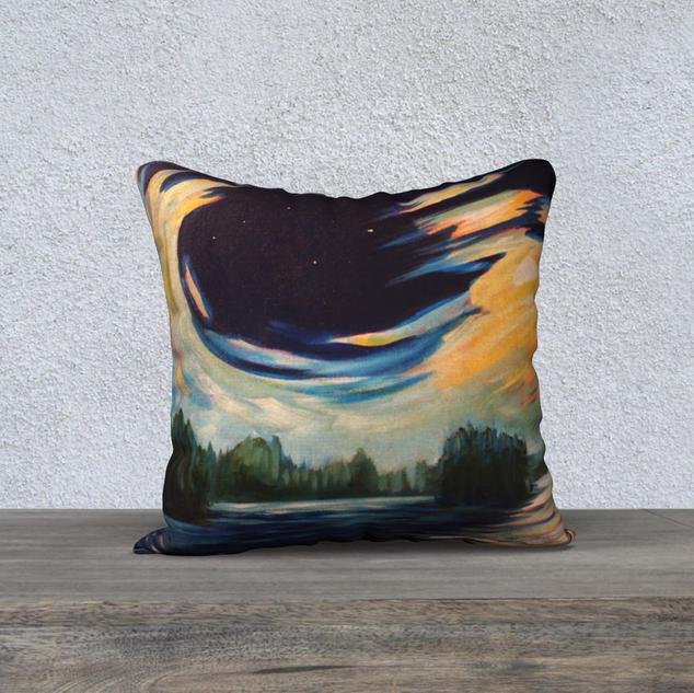 "Moonswept Clouds, Plush Pillow 18"" x 18"""