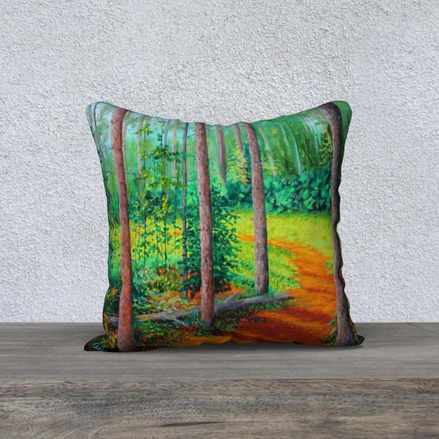 "The Sun Emerges, Plush Pillow 18"" x 18"""