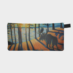"""Greeting the Day, Pencil Case 9"""" x 4"""""""