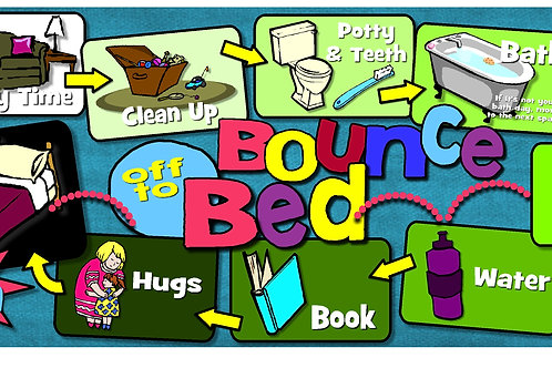 Bounce Off To Bed Bedtime Game