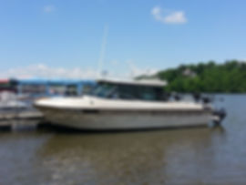 """Welcome aboard """"The Monster Hunter"""". She is a meticulously well maintained 1987, 24 ft Thompson, Hardtop Fisherman."""