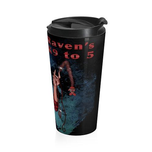 Black Stainless Steel Travel Mug