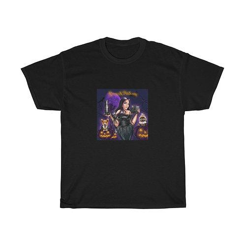 Raven's K9 to 5 Halloween Front Unisex Heavy Cotton Tee