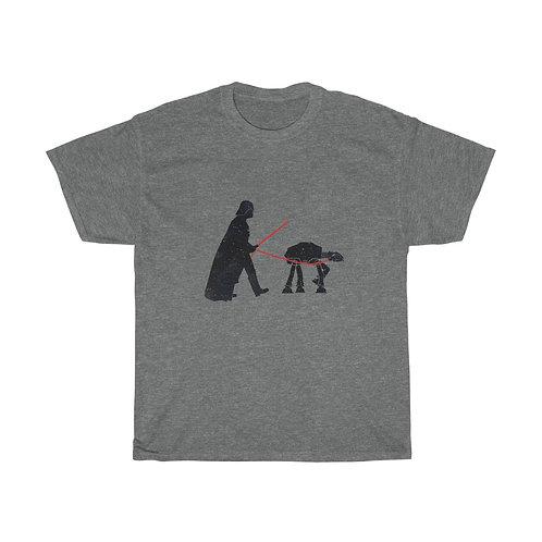 Darth Vader walking At-AT Back Unisex Heavy Cotton Tee