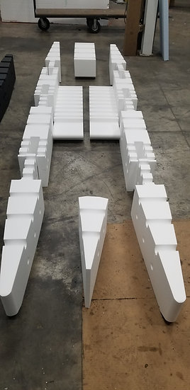 12ft RAW Foam Kit with Front and Rear and Floor Pontoons