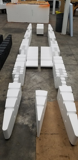 15ft RAW Foam Kit with Front and Rear and Floor Pontoons