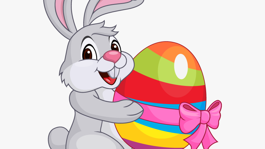 Easter Bunny Visit Four Children