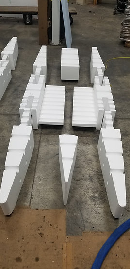9ft RAW Foam Kit with front and rear and Floor Pontoons
