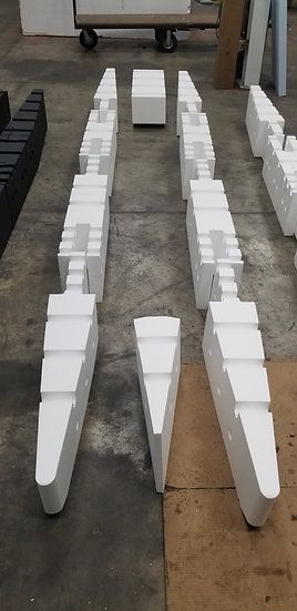 12ft RAW Foam Kit with Front and Rear Pontoons