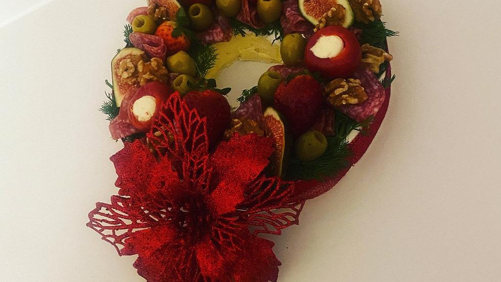Brie Cheese Christmas Wreath