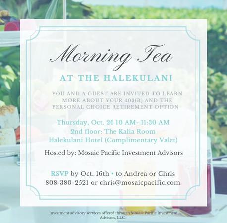 Morning Tea at the Halekulani