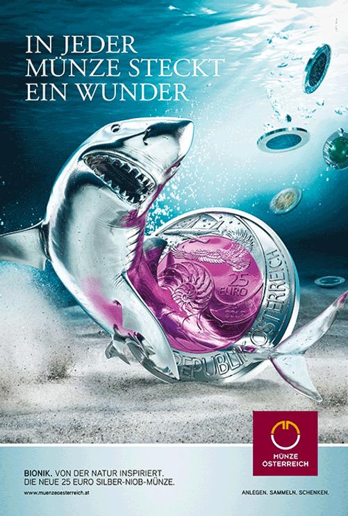 Münze Österreich Kampagne Niob Design Werbung Citylight Freelance