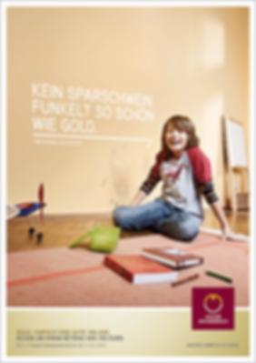 Münze Österreich Werbung Anzeigen Plakat Gold anlegen Design Grafik Werbeagentur Konzept Art Direction Creative Direction Corporate Marketing Fotografie