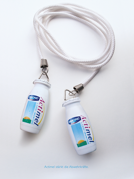 Actimel Anzeigen Citylights Design Konzept Corporate Brand Marketing