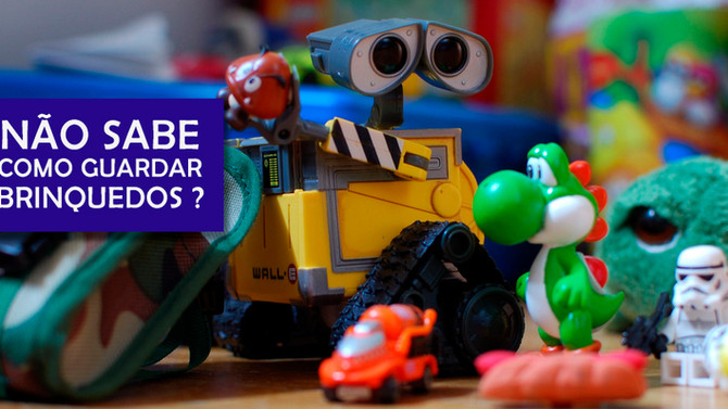 Organize os brinquedos dos seus filhos