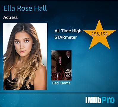 Ella's IMDb Card.
