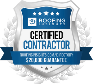 Roofing Insights badge with link to Selz Contracting in the directory