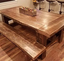 Barnwood Table with Benches.jpg