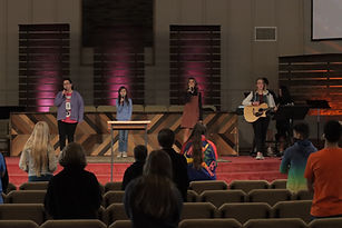 middle school worship team singing