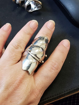 Articulated Vintage Gothic Full Finger Armor Ring 925