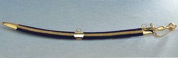 Black & Gold Sword with Velvet Sheath