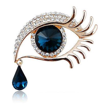 Teardrop Crystal Eye Pin