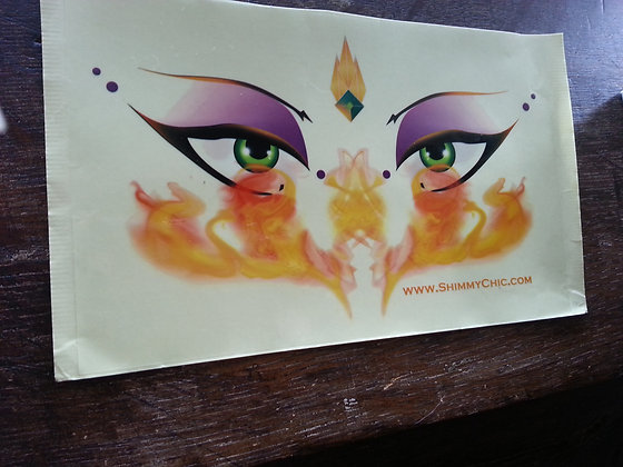Shimmy Chic Fire Clear Decal/Sticker 5x8inches