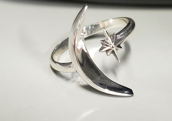 Sterling Silver Luna Star Ring
