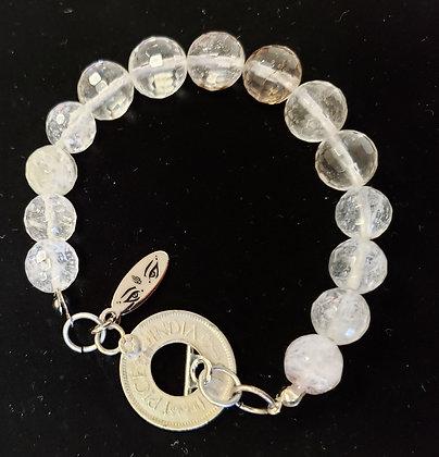 Dirty Quartz Shimmy Chic Bracelet