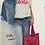 Thumbnail: Tote-bag en coton imprimé bandana rouge
