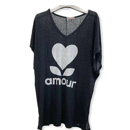T-shrit Amour Noir