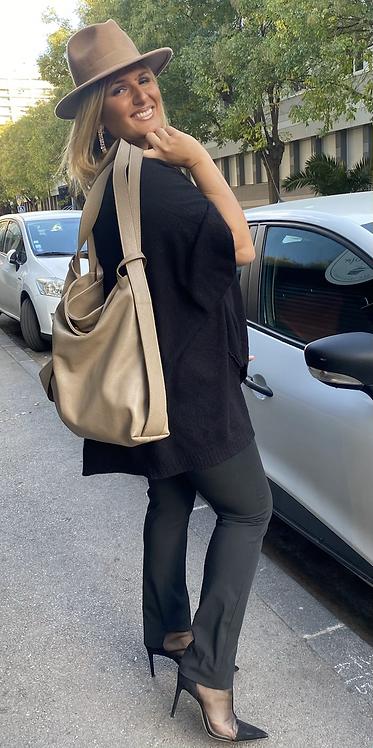 Sac / sac à  dos jacinthe TAUPE