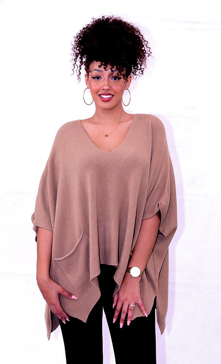 PULL OVERSIZE CAMEL