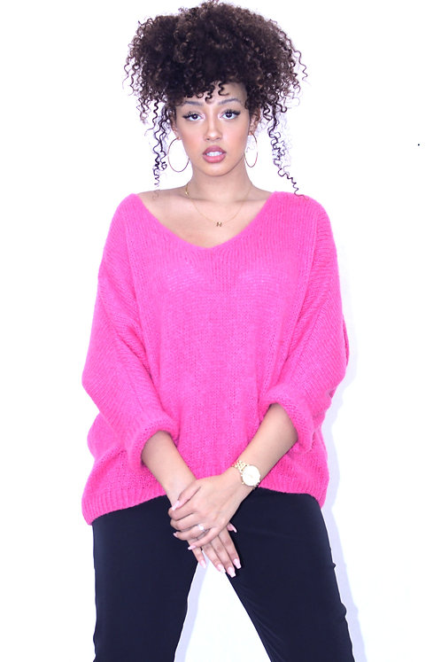 PULL MAILLE ROSE FLUO