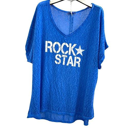 T-shrit Lose Rock Star bleu