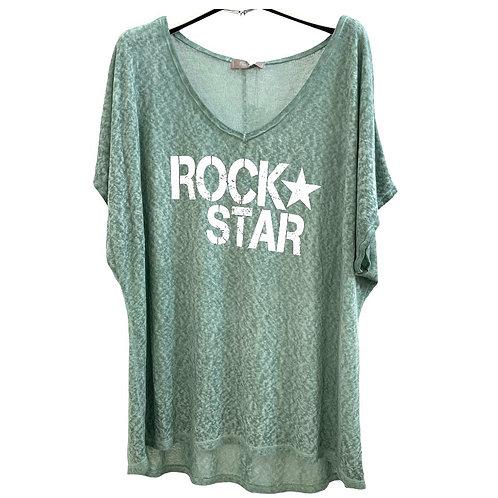 T-shrit Lose Rock Star vert