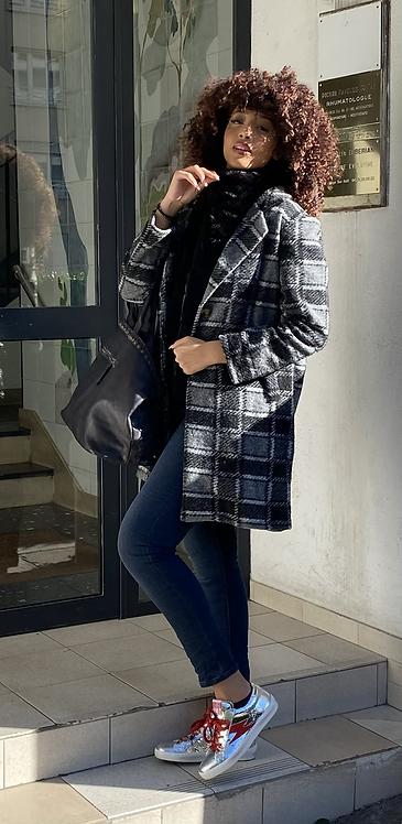 Manteau ninon  gris/noir