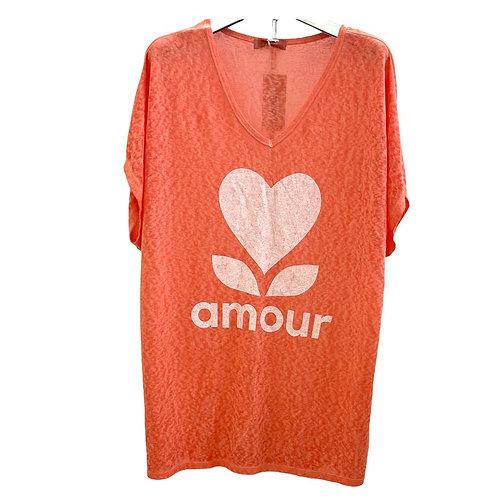 T-shrit Lose Amour  Orange