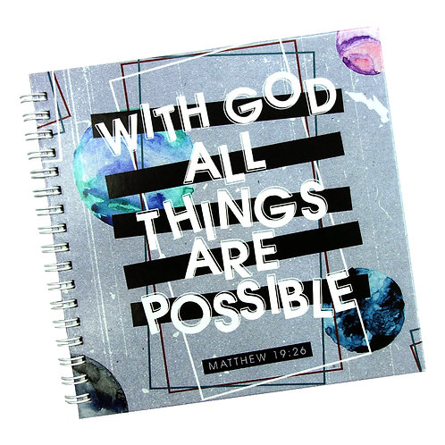 All Things Are Possible Doodle Notebook