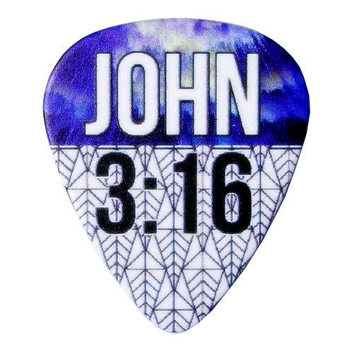 John 3:16 Guitar Pick