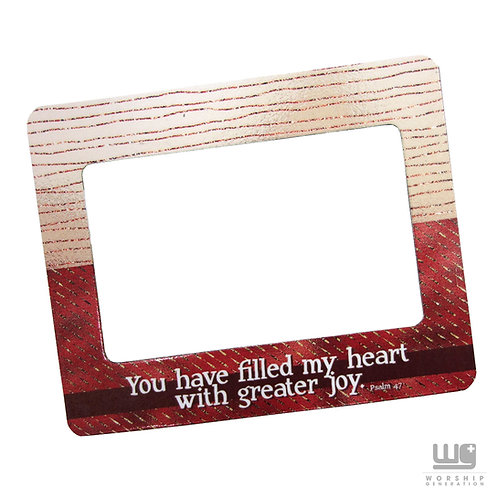 Greater Joy Frame Magnet