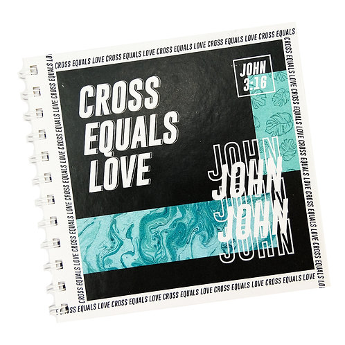Cross Equals Love V1 Doodle Notebook