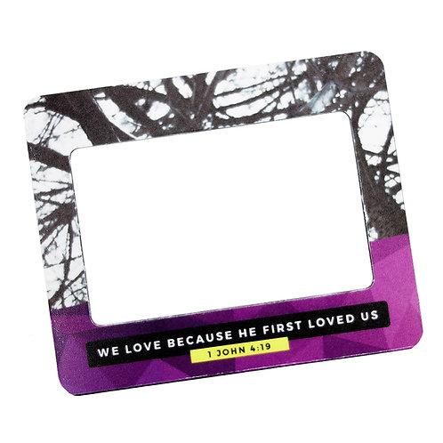 We Love Frame Magnet