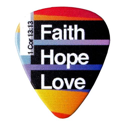 Faith Hope Love Guitar Pick