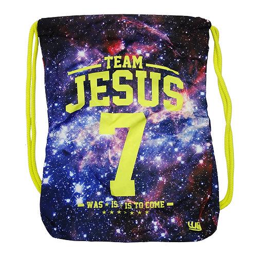 Team Jesus Galaxy Cinch Bag