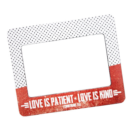 Love Is Patient Frame Magnet