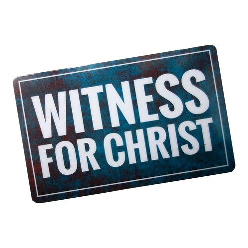 Witness For Christ Flat Ref Magnet