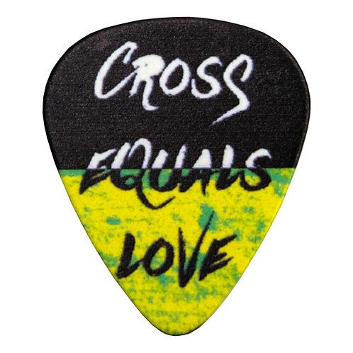 Cross Equals Love Guitar Pick