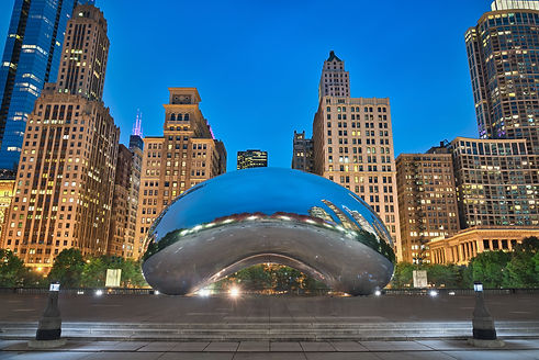 Photo of the Millenium Park at the blue hour time.jpg